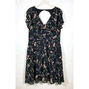 City Chic Floral Fit N Flare Baby Doll Dress